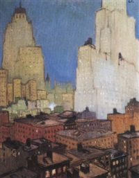 vue de new york city by jean georges cornelius