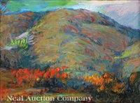 mountain landscape - autumn by marie atkinson hull