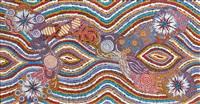 le rêve du ver de terre/worm dreaming by nungarrayi michelle possum