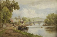 river scene by edward henry holder