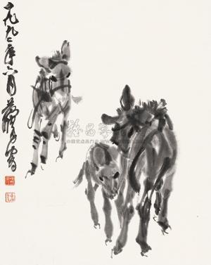 三驴图 donkey by huang zhou