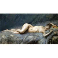 reclining nude by antonio alice