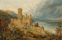 schloss stolzenfels (castle of stolzenberg on the rhine) by frederica markham