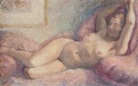 une femme nue allongée by paul renaudot