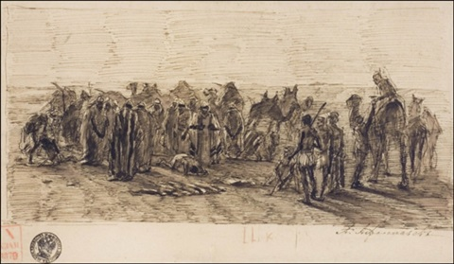 kohtaaminen aavikolla by aleksei fedorovich afanasev