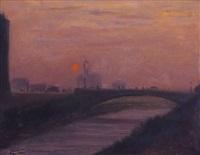 torino, tramonto by mario albano