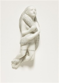 woman with snake by kiki smith