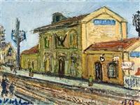 gare de banlieu by henri victor wolvens