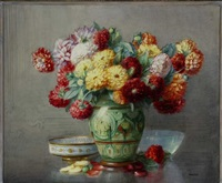 still life with flowers by isidore rosenstock
