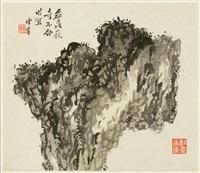 album mit sechs blättern: verschiedene darstellungen von gestein, mit aufschriften (album w/6 works) by luo chaohan