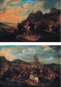 combat entre les turcs et les chrétiens (2 works) by peter (petrus) snyers