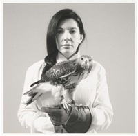 portrait with falcon by marina abramovic