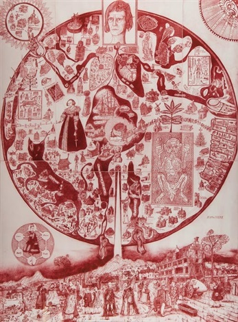 map of nowhere red by grayson perry
