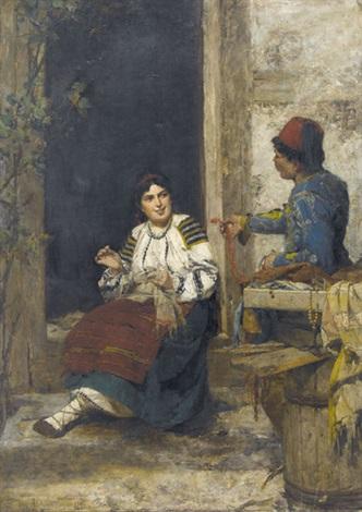 Schmuckhändler  Der Schmuckhändler aus dem Orient by Kazimierz Alchimowicz on artnet