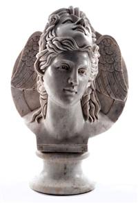 marmorkopf der antiken sagengestalt des