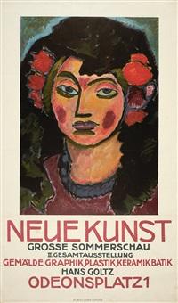 plakat für die ausstellung neue kunst (hans goltz) by alexej jawlensky