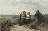 a family in the dunes by elchanon verveer