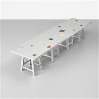 silver bench by mary heilmann and ricky clifton