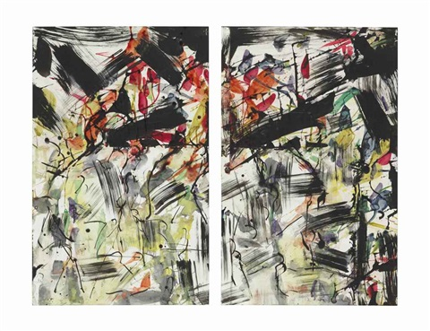 untitled bridgehampton diptych by jean paul riopelle