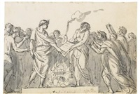 augustus forbidding the burning of virgil's aeneid by jacques-louis david