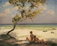 mädchenakte am strand by wilhelm hempfing