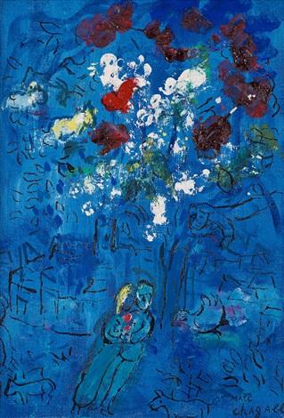 le bouquet au dessus de vence by marc chagall