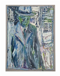 man standing in a snowy street (2) by billy childish