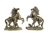 models of the marley horses (pair) by guillaume coustou the elder