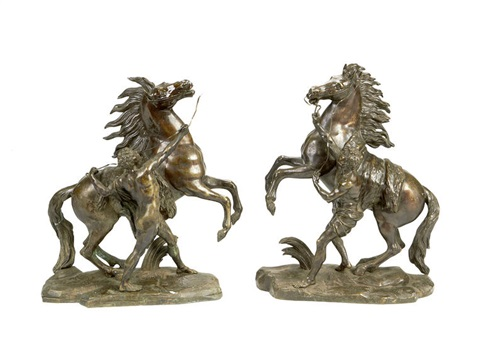 models of the marley horses pair by guillaume coustou the elder