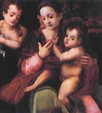 madonna con bambino e san giovannino by francesco del brina