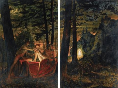 lost paradise from nostalgic socialist realismdiptych by komar and melamid