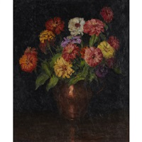 zinnias by mary alberta cleland