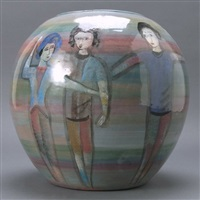 spherical bowl with seven dancers by polia pillin