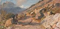 an italian landscape by franz theodor aerni