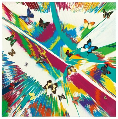 beautiful spring in the arctic painting by damien hirst