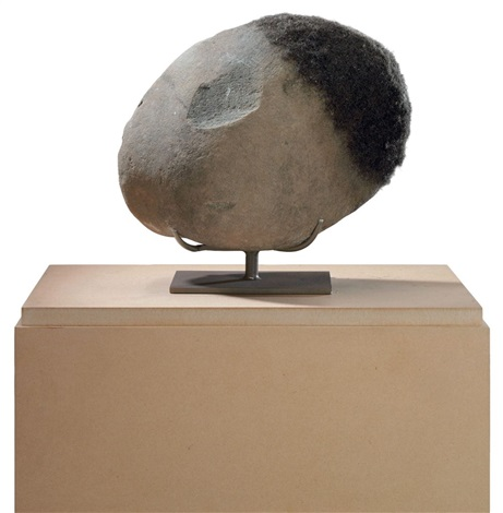untitled rock head by david hammons