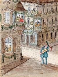 fragment eines skizzenbüchleins (sketchbk w/4 works) by franz holzlhuber