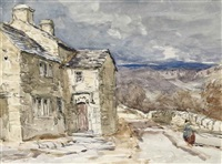 a figure on a lane by david cox the elder