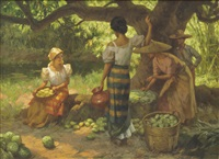 under the mango tree by fernando cueto amorsolo