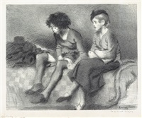two girls by raphael soyer