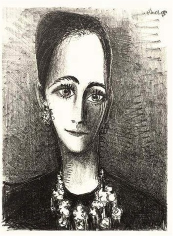 portrait of mademoiselle rosengart by pablo picasso
