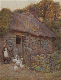 driving the geese to roost by ernest arthur rowe