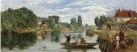 on the thames, staines by william henry knight