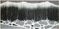 abstracted wooded landscape by wu guanzhong