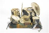 miniature soft drum set by claes oldenburg