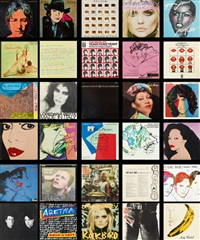 pochettes de disques (set of 58) by andy warhol