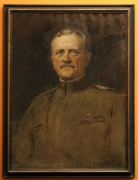 portrait of general pershing by douglas volk