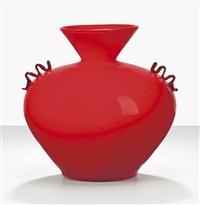 in corpo vase, model z 305 by barovier seguso & ferro murano