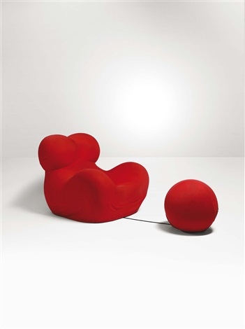 Poltrona Up5 con pouf Up6 by Gaetano Pesce on artnet
