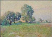 misty summer morning, st-eustache by william henry clapp